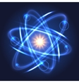 Shining nuclear atom model vector image