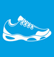 sneakers for tennis icon white vector image vector image