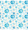 spiral grunge seamless pattern vector image vector image