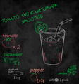 vegetables smoothie with ingredients list Tomato vector image