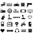 video game retro arcade gamer clip art vector image