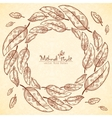 Vintage feathers ethnic frame in Indian mehndi vector image