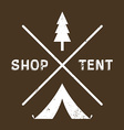 vintage logotype camping or shop vector image