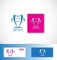 Winner sport cup trophy logo vector image vector image