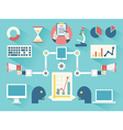 Work business proces vector image vector image