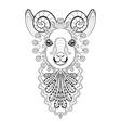 zentangle Ram Head Goat vector image vector image