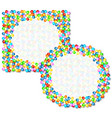 frame of colorful balloons vector image