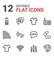 12 website icons vector image vector image