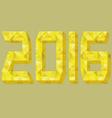 2016 font gold design vector image