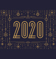 2020 happy new year banner vector image vector image