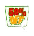 50 percent off comics icon vector image vector image