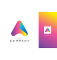 a logo letter with rainbow vibrant beautiful vector image vector image