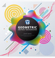 abstract 3d plastic colorful circle geometric vector image vector image