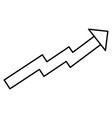 arrow of growth icon vector image vector image