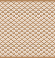 art deco gold and white fish scale geometric style vector image vector image