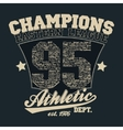 Athletics typography t-shirt graphics