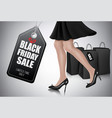 black friday sale background with elegant vector image vector image