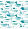 blue river fish seamless pattern vector image