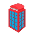 British red phone booth icon cartoon style vector image vector image