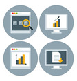 Browser Website Circle Icon Set vector image vector image