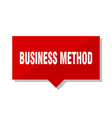 business method red tag vector image vector image