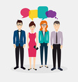 Business people with colorful dialog speech Social vector image vector image