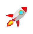 cartoon rocket space ship vector image vector image