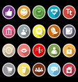 Chat conversation flat icons with long shadow vector image vector image