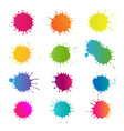 colorful stain set isolated vector image vector image