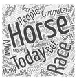 computer game horse racing Word Cloud Concept vector image vector image