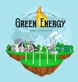 concept alternative energy green power vector image