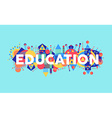 Creative Education concept font vector image vector image