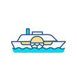 cruise ship rgb color icon vector image