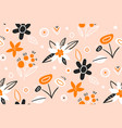 cute pattern in small flower hand drawn creative vector image