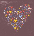 different color hearts forming one heart vector image