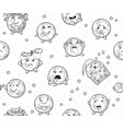 earth emoji characters endless background in vector image vector image