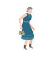 elderly woman walking happy old senior vector image