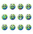 facial expressions on earth vector image