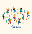 festa junina of funny dancing vector image