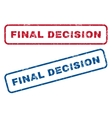 Final Decision Rubber Stamps vector image vector image
