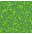 Floral seamless pattern in green and yellow colors vector image