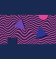 geometric wavy background creative wavy geometric vector image vector image