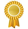 Gold award seal rosette