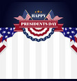 happy presidents day banner background and vector image vector image