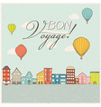 Hot air balloons flying vector image vector image