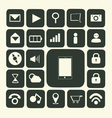 iApplication icons for smartphone and web vector image vector image
