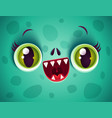 kawaii face zombie vector image