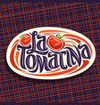 logo for tomatina festival vector image