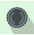 Medal with laurel wreath icon flat style vector image vector image