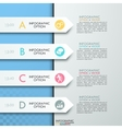 Modern business circle paper style options banner vector image vector image